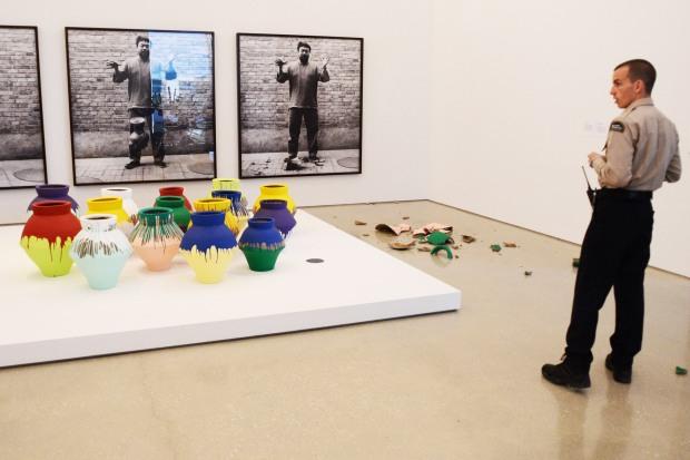 Miami Artist Smashes  Million Vase
